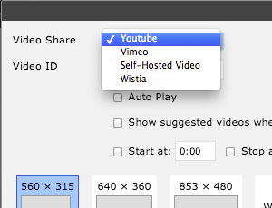 Add YouTube, Vimeo or Wistia Videos
